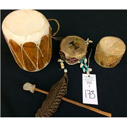 Native American Drum Lot