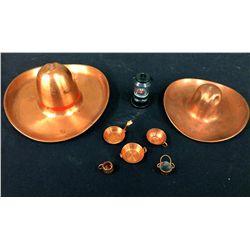 Southwestern Copper Cowboy Hat Lot