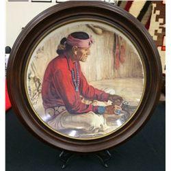 Navajo Silversmith Framed Plate