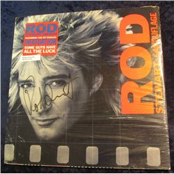 "46. Rod Stewart autograph on album cover of ""Rod Stewart - Camouflage"" Featuring the Hit singles Inf"