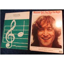 48. John Lennon autograph on sheet music  Imagine . Extremely Rare!!!