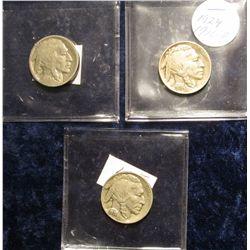 121. 1916 P G-4, 24 P F-12, & 38 D F-12 Buffalo Nickels.