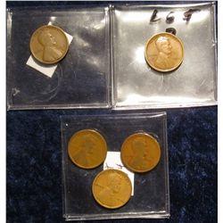 123. 1912P, 15D, 16P, 16D, & 18P Lincoln Cents.