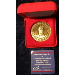 130. 2007 Inaugural Season Coach Gene Chizik, Iowa State University Football Bronze Medal. 39mm. In