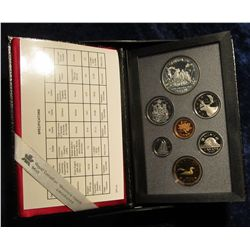 "139. 1989 ""Fleuve Mac Kenzie River"" Canada Commemorative Silver Proof Set. Original as issued."