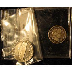 143. 2003 S Proof Jefferson Nickel & 1899 P Barber Dime VG 8