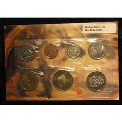 808. 2001 Canada Mint Set. Original as issued. (7 pcs.).