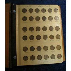 818.(2)Complete Sets 1920-1997 Canada Small Cent Collection in a World Coin Library Album.