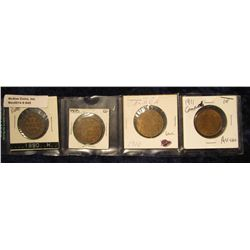 845. 1890H, 1908, 1910 & 1911 Canada Large Cents. Grades up to AU+.