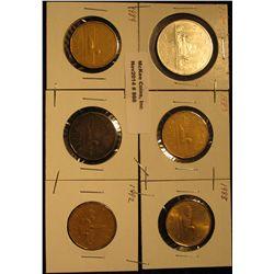 866. 1979, 87, 88, 89, 90, & 92 Canada Dollar Coins.