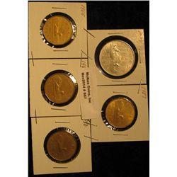 867. 1979, 87, 88, 89, & 90 Canada Dollar Coins.