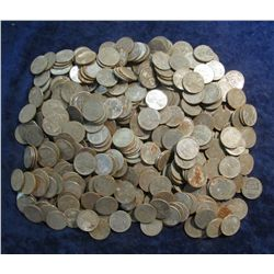 869. World War II U.S. Steel Cents. Circulated. (500 pcs.).