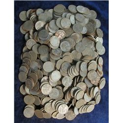 870. World War II U.S. Steel Cents. Circulated. (500 pcs.).