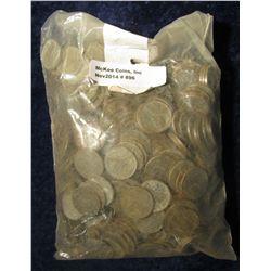 896.  (500 pcs.) World War II U.S. Steel Cents. Circulated..