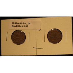 897. 1920 & 21 Canada Small Cents. F-VF.