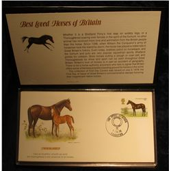 """901.1978 Fleetwood Stamp Folio First Day Proofcards """"Best Loved Horses of Britain"""". Complete with al"""