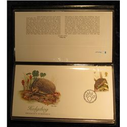 902. 1977 Britain's Wildlife. Set of 5 Fleetwood First Day Covers Britain's Wildlife.  All five cove