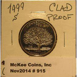 915. 1999 S Connecticut Proof Statehood Quarter. Proof 67.
