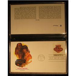 921. Pueblo Art of America Commemorative Collection Fleetwood album with five different covers grace