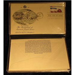 922. 1775-1975 :The Bicentennial of America's Postal Service Fleetwood Album with five different Fir