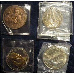 929. 1969 First Man on the Moon Landing Bronze Medal; 1982 Creston, Ia. Railroad Medal; Benjamin Fra
