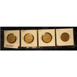"""930. Complete Set of 1987-1990 Canada """"Loonie"""" Dollar Coins. All in holders and partial plastic page"""