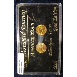 944. The Westward Journey American Bison 2005 Philadelphia & Denver Gold Edition in a black hard pla