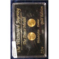 945. The Westward Journey The Peace Medal 2004 Philadelphia & Denver Gold Edition in a black hard pl