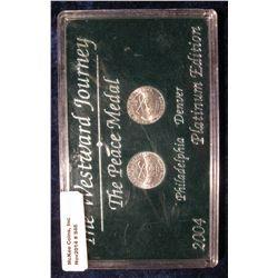 946. The Westward Journey The Peace Medal 2004 Philadelphia & Denver Platinum Edition in a black har