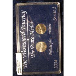 947. The Westward Journey The Peace Medal 2004 Philadelphia & Denver Series 1 in a black hard plasti