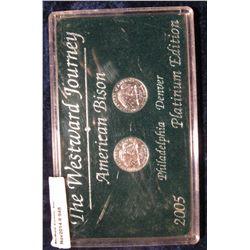 948. The Westward Journey American Bison 2005 Philadelphia & Denver Platinum Edition in a black hard