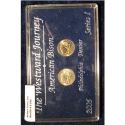 949. The Westward Journey American Bison 2005 Philadelphia & Denver Series 1 Edition in a black hard