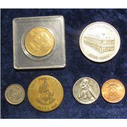 1133. 1839-1989 Keosauqua (Iowa) 150th Celebration Farmer's State Bank Medal, antiqued Silver-colore