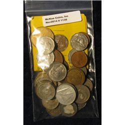 1136. (4) Russian; (9) Philippines Islands; (1) Honduras; & (23) other Foreign Coins.
