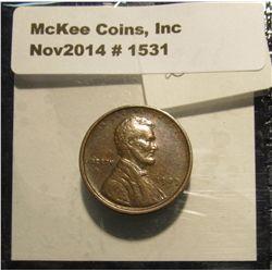 1531. 1909 P VDB Lincoln Cent. Choice Brown AU. Book value $16.00.