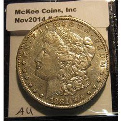 1533. 1881 S Morgan Silver Dollar. AU 50.
