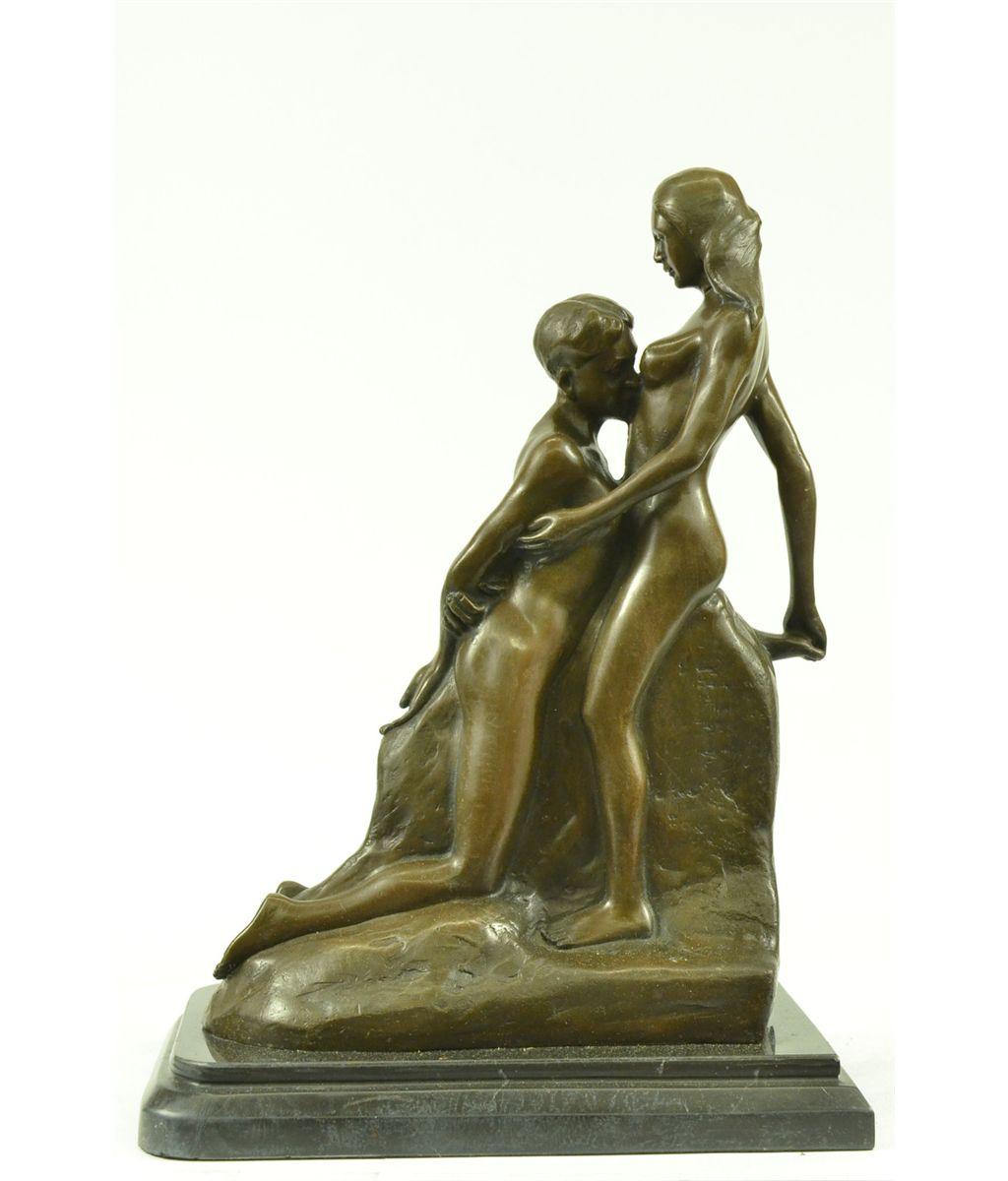 Rodin Eternal Idol Nude Erotic Bronze Marble Statue