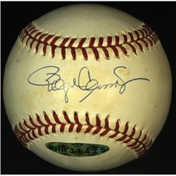 Roger Clemens Signed Oal Baseball With 1985 Topps 181