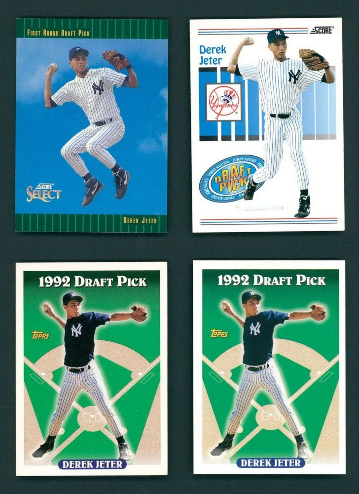 Lot Of 4 Derek Jeter Rookie Cards With 2 1993 Topps 98