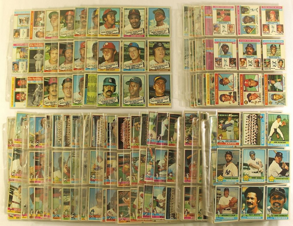 Set Of 660 1976 Topps Baseball Cards With Set Of 44 1976 Topps