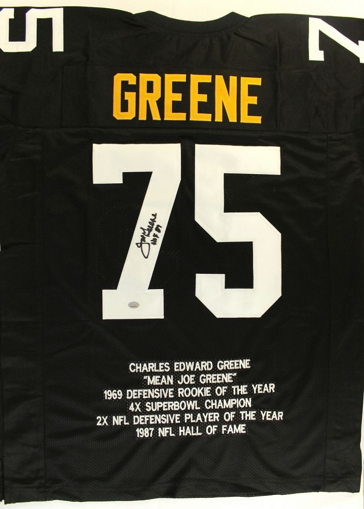 official photos fbfb7 d2f62 Joe Greene Signed Steelers Stat Jersey Inscribed
