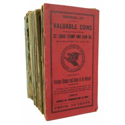 Scarce St. Louis Stamp & Coin Price Lists