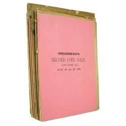Steigerwalt Auction Catalogues