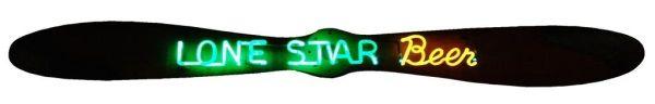 Lone Star Beer Propeller Neon Sign
