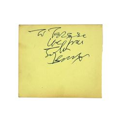 John Lennon Autograph From 11/20/1963 Beatles Concert Manchester England
