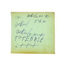 Rare Autographs of John Lee Hooker & Dave Berry