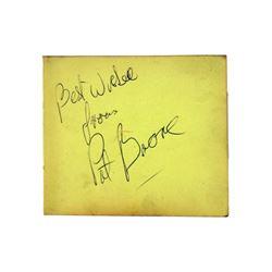 Pat Boone Autograph
