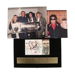 Michael Jackson Autographed Dangerous Concert Ticket 1992 Glasgow Scotland & Photos