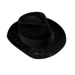 Michael Jackson Custom Made Fan Fedora With Jackson's Personal Signature