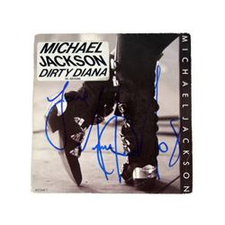 Michael Jackson Autograph on Dirty Diana Single Original Cover